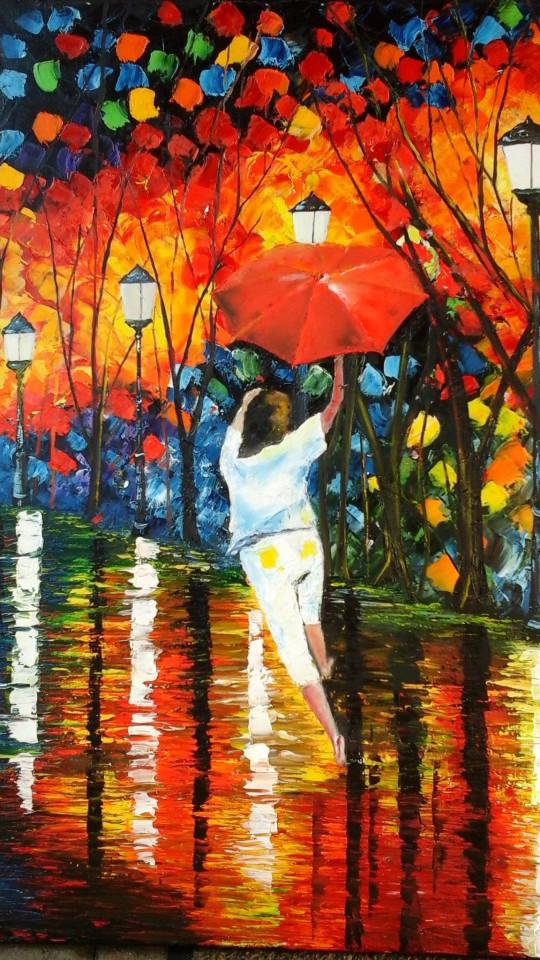 Tanzendes Kind im Regen
